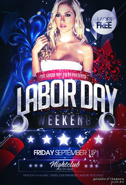 Flyer Template - Labor Day Party