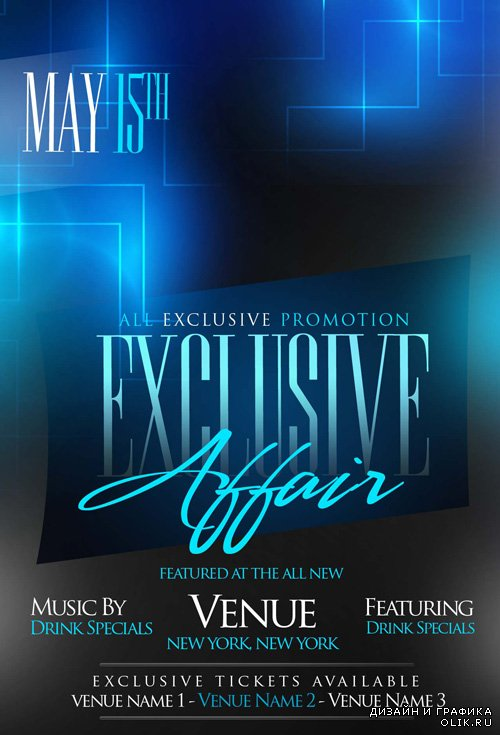 PSD Flyer Template - Exclusive Affair