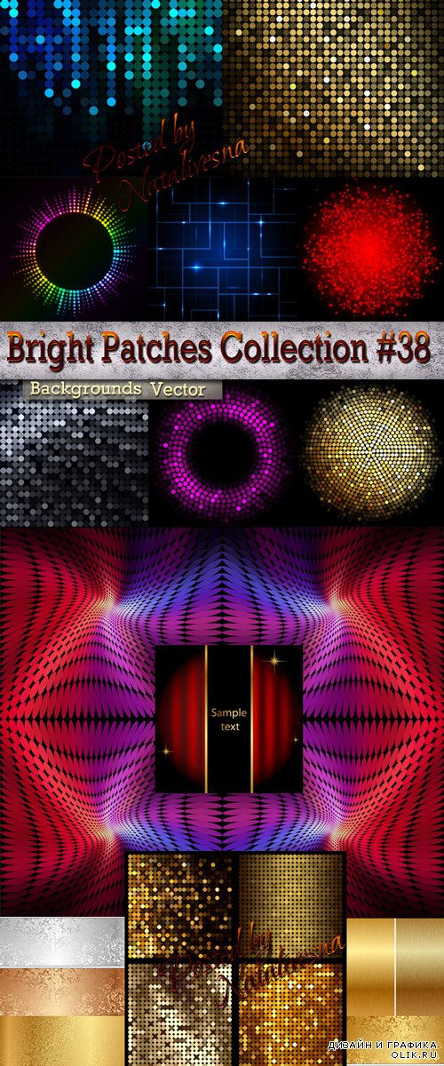 Bright Patches Collection Backgrounds in Vector # 38