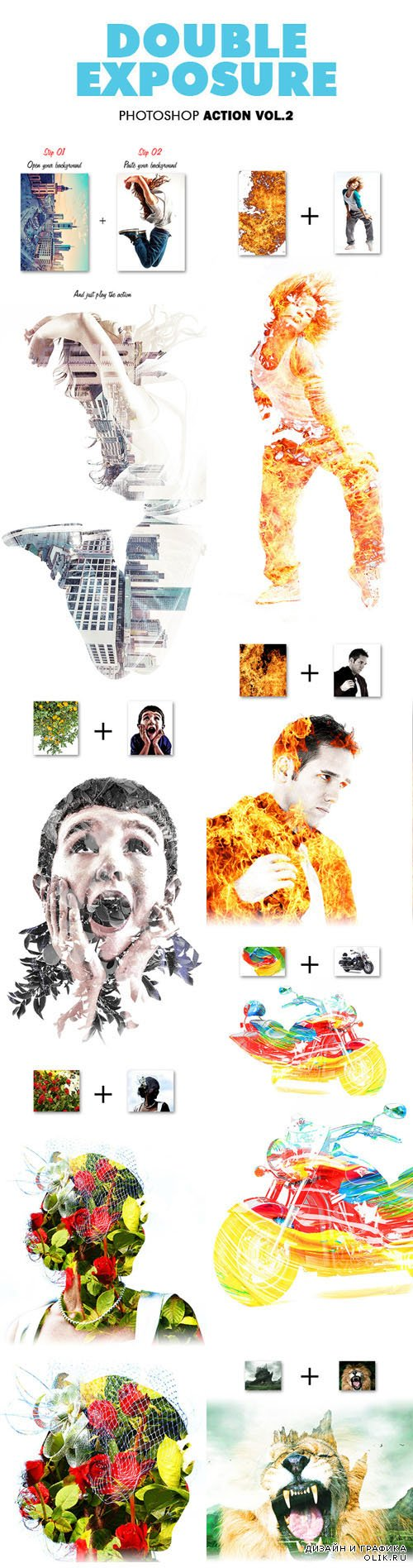 Double Exposure Vol.2 - Photoshop Action - Graphicriver 11735280