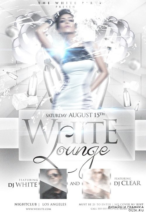 Flyer Template - White Lounge PSD