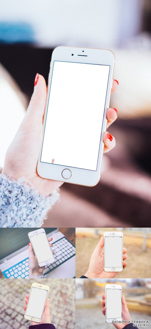 PSD - 5 Mock up Templates - Iphone 6 Series V1
