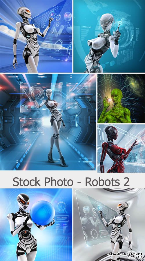 Stock Photo  - Robots 2