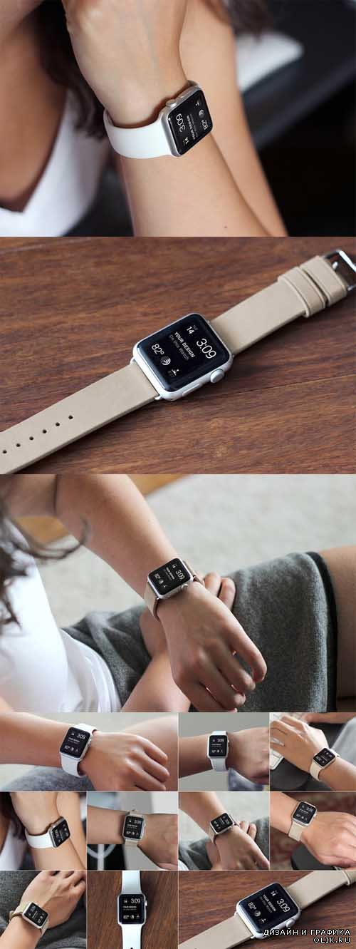 10 Real World Apple Watch Mockups - 329197