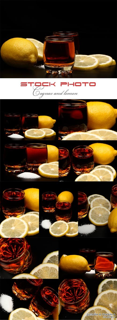 Cognac and lemon