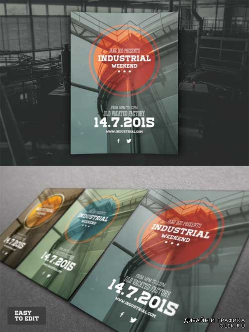 Industrial Flyer PSD Template - 319733