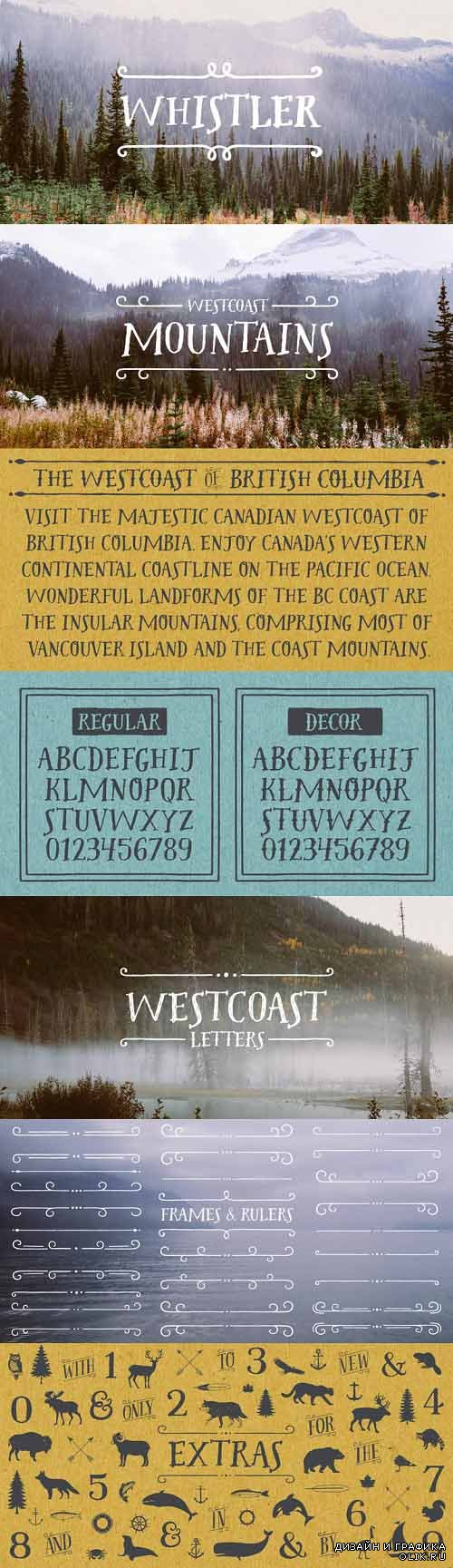 Westcoast Letters Font Style