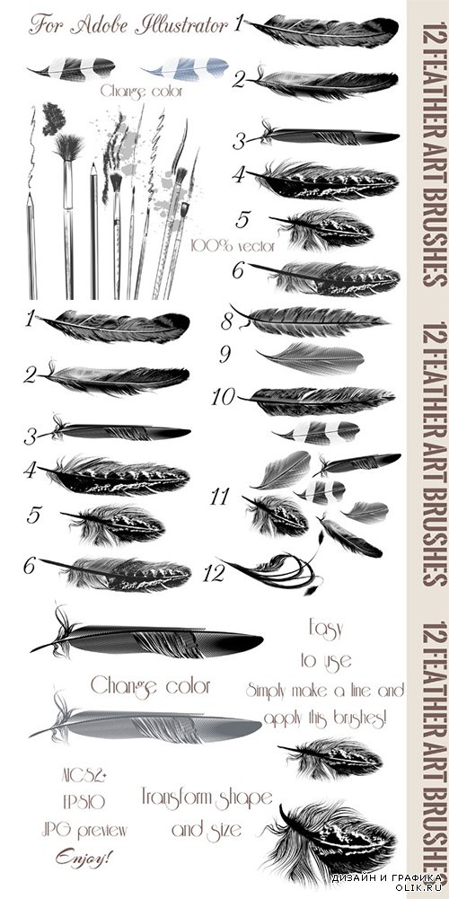 CM - Feather brushes for ILLSR 329141