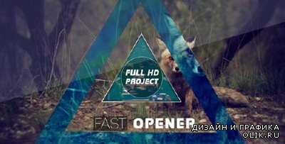 Fast Glitch Opener - Project for After Effects (Videohive)