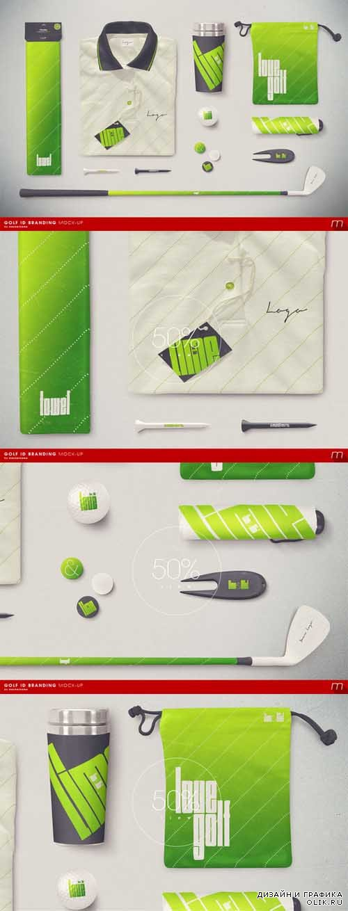 Golf Company Identity Mock-up - 181084