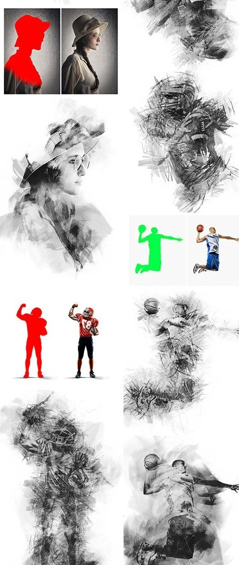 GraphicRiver - Charcoal Photoshop Action 12303884