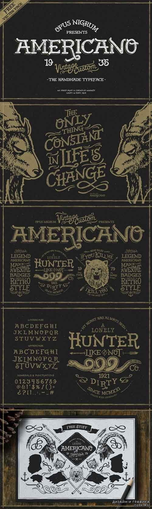 Americano Pack Font Style