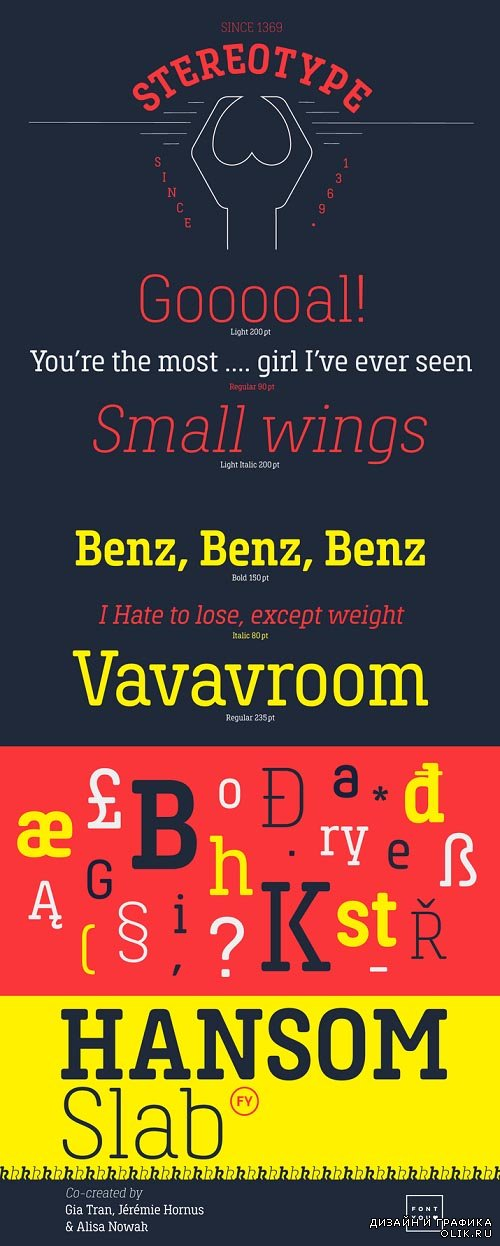 Hansom Slab FY Font Style