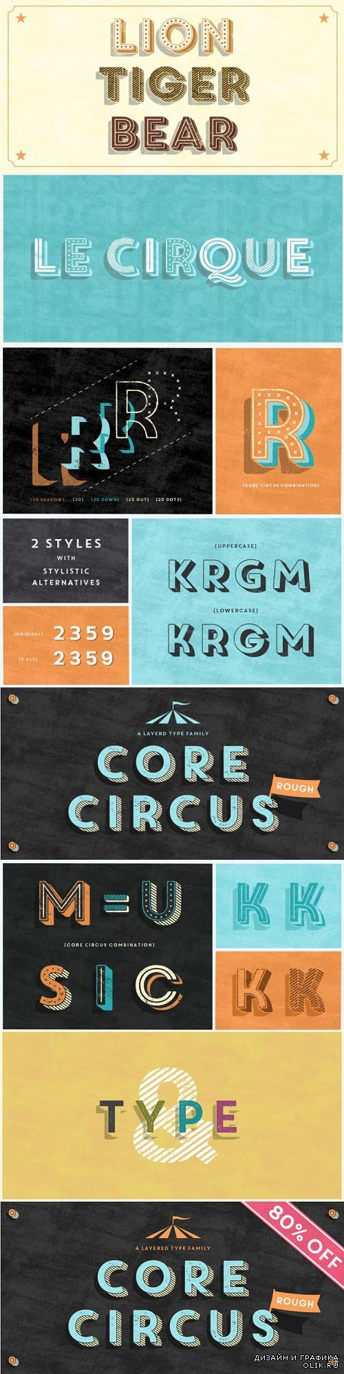 Core Circus Rough Font Style