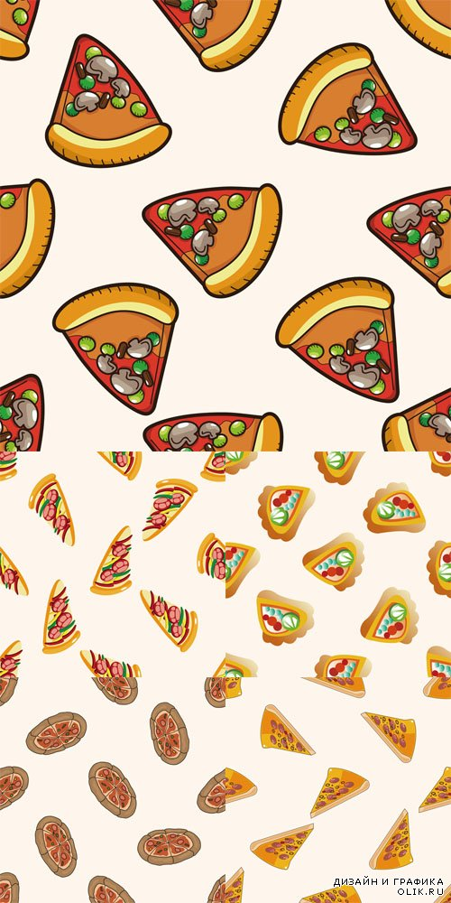 Vector Set - 5 Pizza Patterns 2