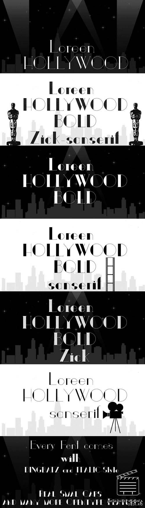 Loreen Hollywood Font Style