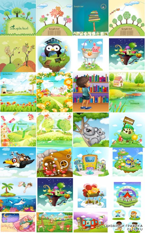 background vector for children