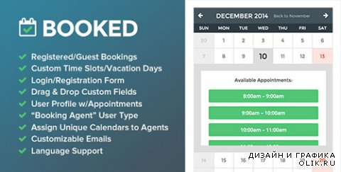 CodeCanyon - Booked v1.6.11 - Appointment Booking for WordPress - 9466968