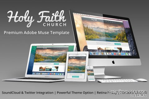 HolyFaith v2.0 - Multipurpose Muse Template - CM 65817