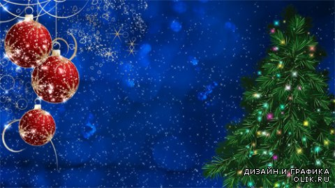 Background footage festive Christmas tree and Christmas toys