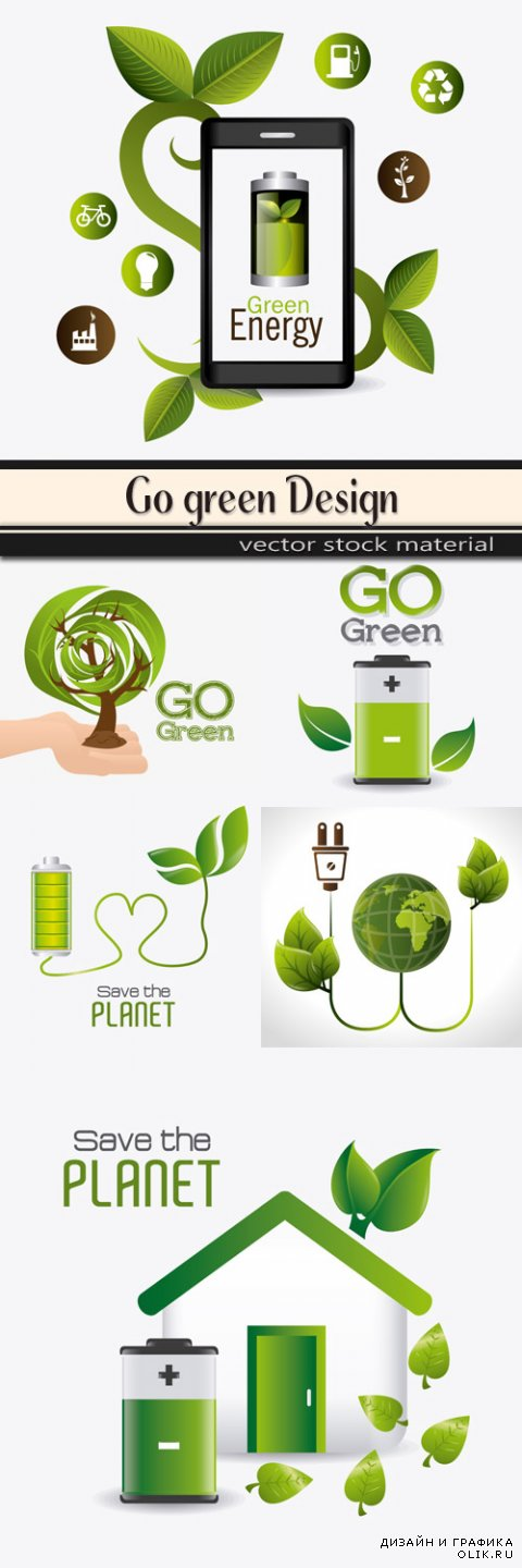 Go green design in vector
