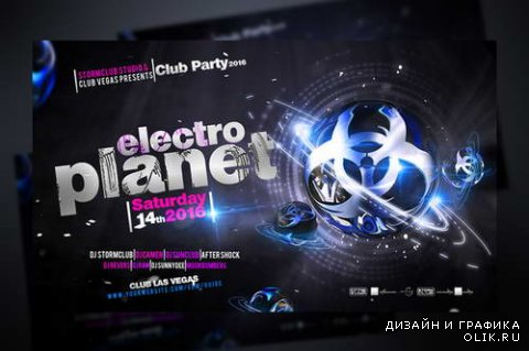 Electro Planet Flyer Template - 495698