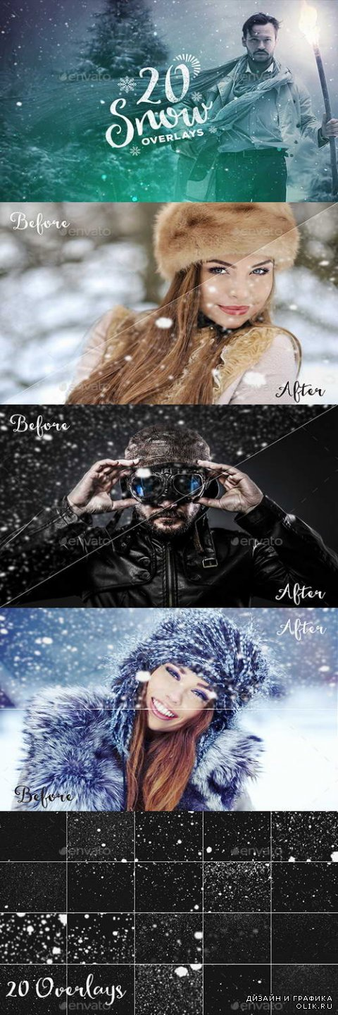 20 Snow Overlays - 13971923