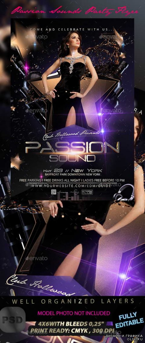 Passion Sounds Party Flyer Template - 11421319