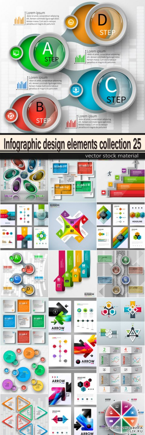 Infographic design elements collection 25
