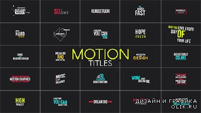 Motion Titles - Project for After Effects (Videohive)
