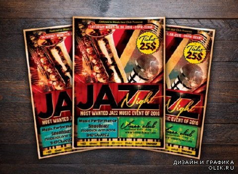 CM - Jazz Night Concert Music Flyer 506921