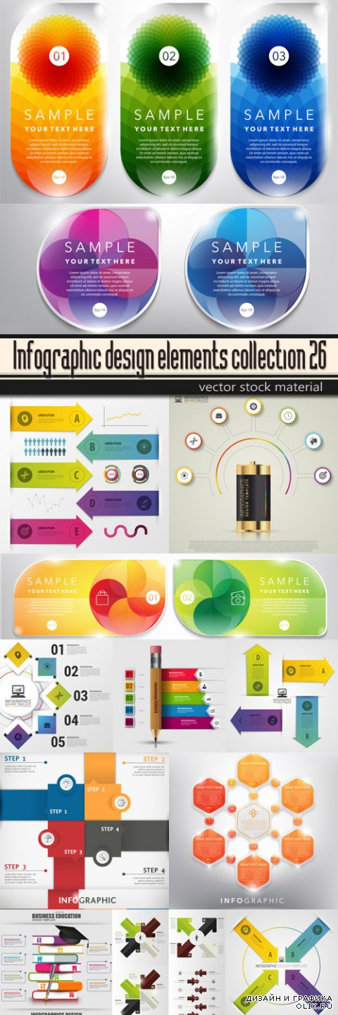 Infographic design elements collection 26