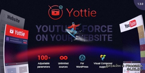 CodeCanyon - YouTube Channel WordPress Plugin - Yottie v1.2.1 - 14115701