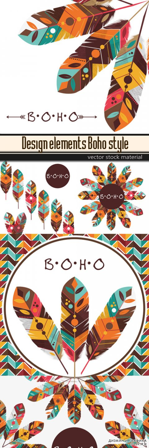 Design elements - Boho style