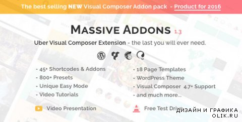 CodeCanyon - Visual Composer Extensions v1.3 - Massive Addons - All In One Ultimate Addon Pack - 14429839