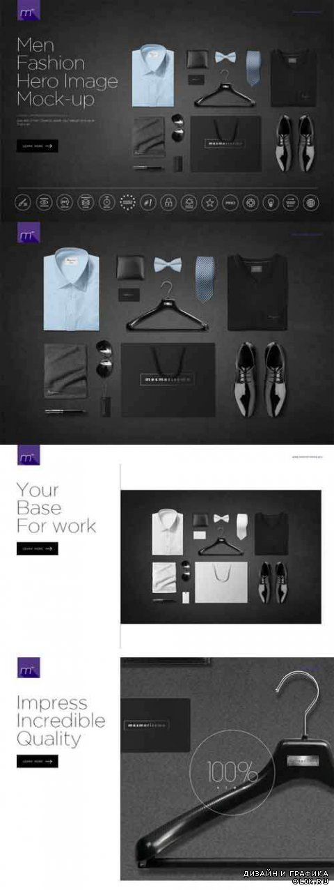 Men Fashion Hero Image Mock-up - 517614
