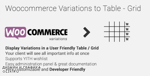 CodeCanyon - Woocommerce Variations to Table - Grid v1.2.0 - 10494620