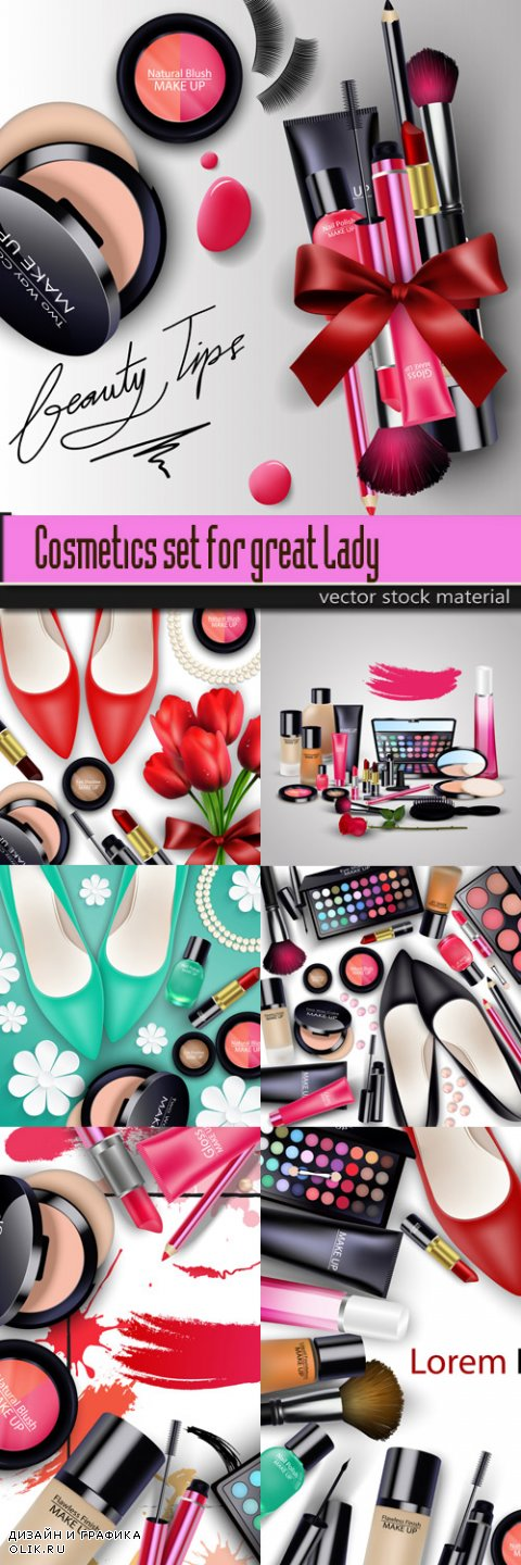 Cosmetics set for great Lady
