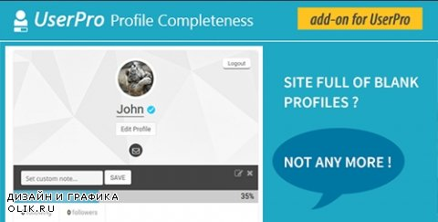CodeCanyon - User profile Completeness v1.0 - Add-on for UserPro - 14942712