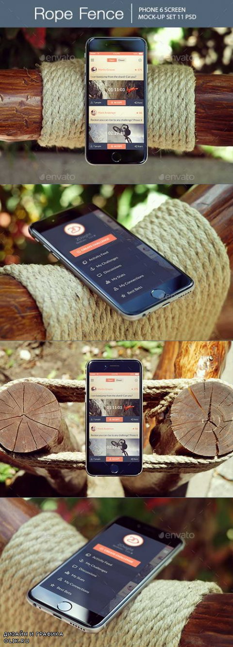 Rope Fence iPhone 6 Mockup - 14164235