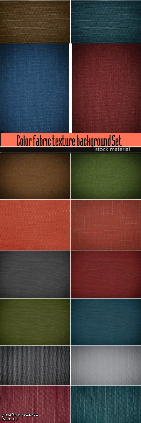 Color fabric texture background Set