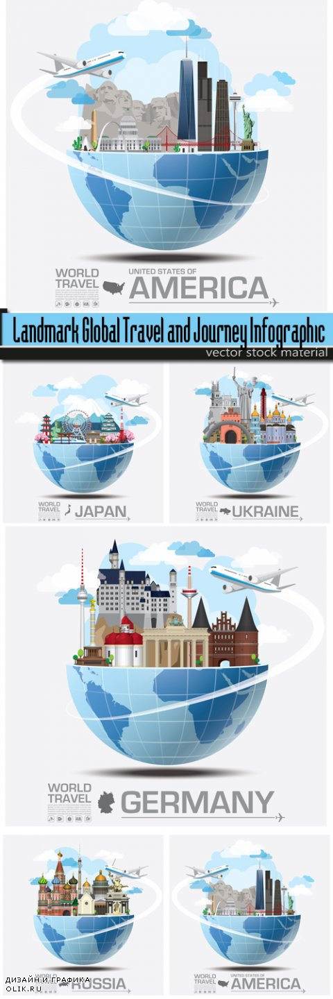 Landmark Global Travel and Journey Infographic