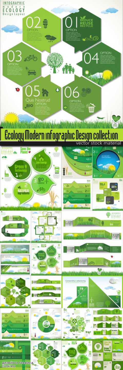 Ecology Modern infographic Design collection