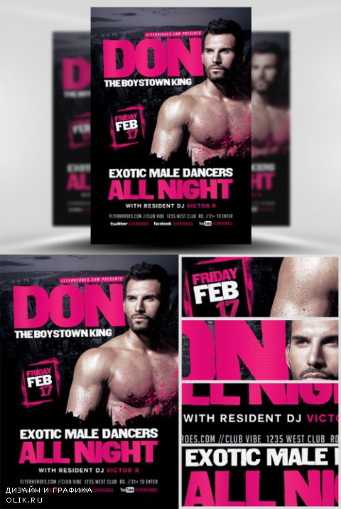 Flyer Template - Male Dancers