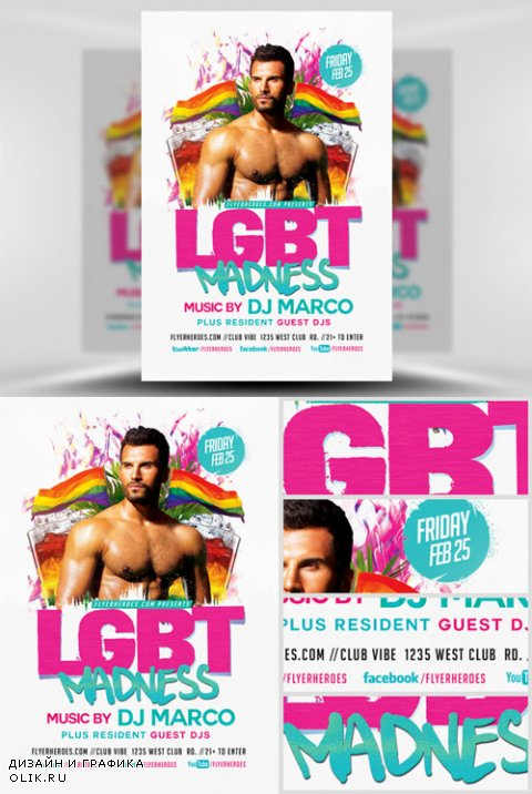 Flyer Template - LGBT Madness