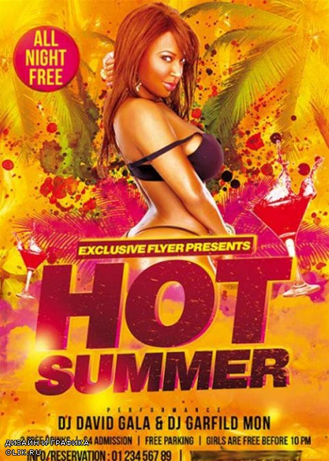 Hot Summer Premium Flyer Template + Facebook Cover