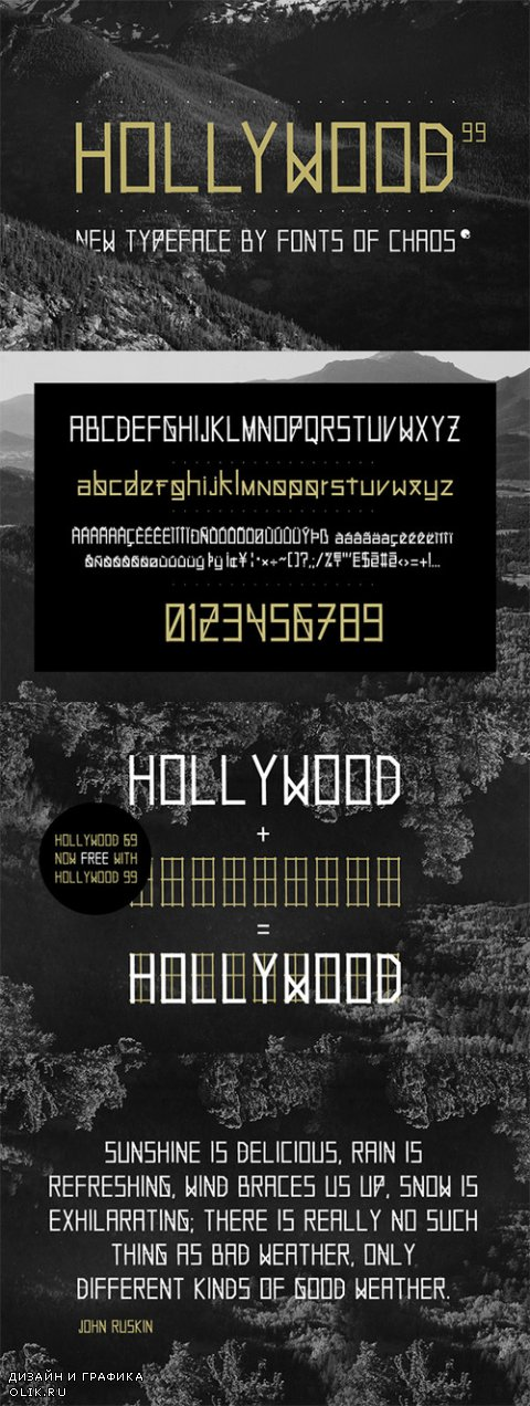 Hollywood 99 - font - Creativemarket 23104