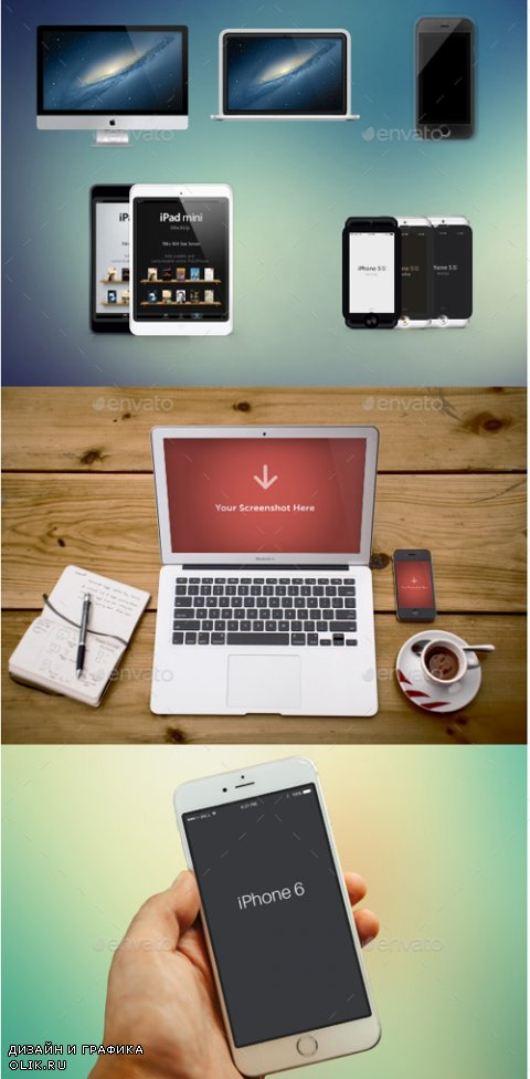 Responsive Apple Devices Mockup Pack 14781201