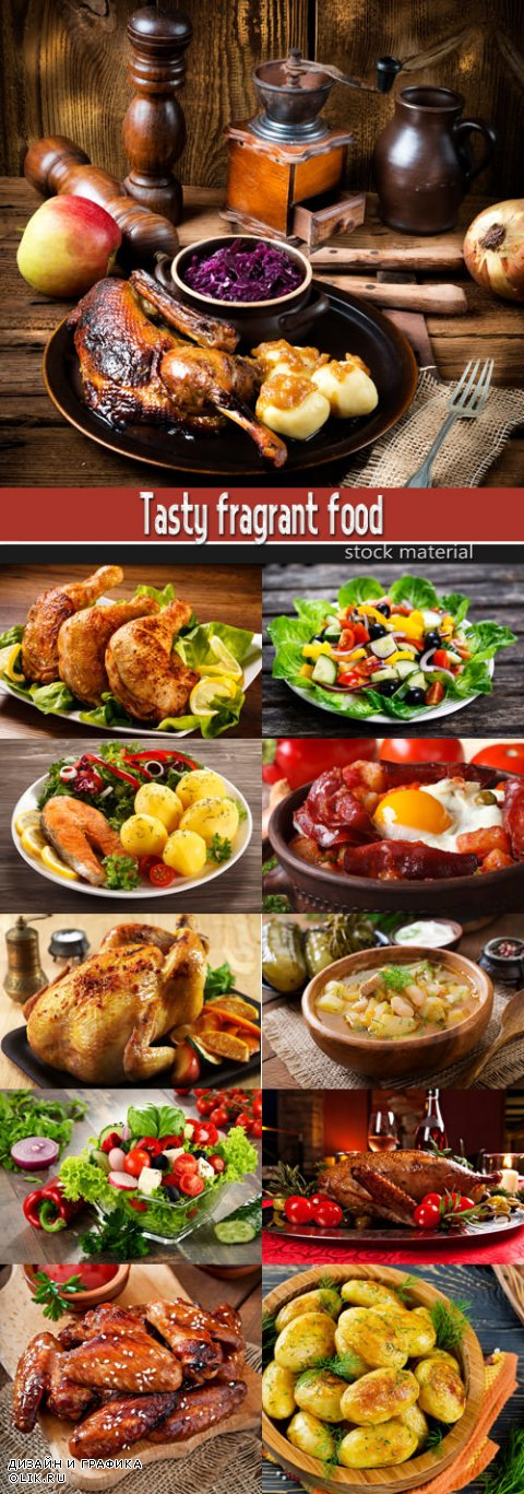 Tasty fragrant food