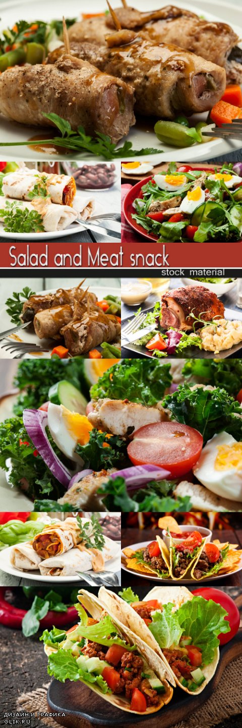 Salad and Meat snack